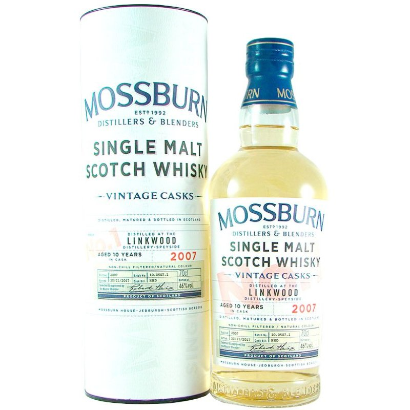 Mossburn Vintage Cask No. 1 2007 Linkwood Aged 10 Years 46,0% vol. 0,70 l